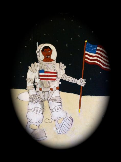 President Barack Obama on the moon HCG2013