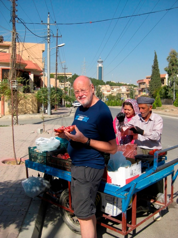 Granatäpplet var surt, och Kurdistan vore ett eldorado för en elektriker, kolla elledningarna