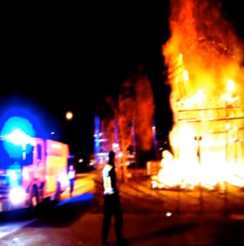 Gävlebocken brinner 2015