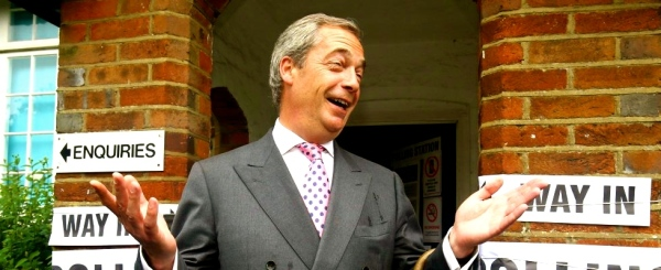 Nigel Farage, leader dell'Ukip (ap)