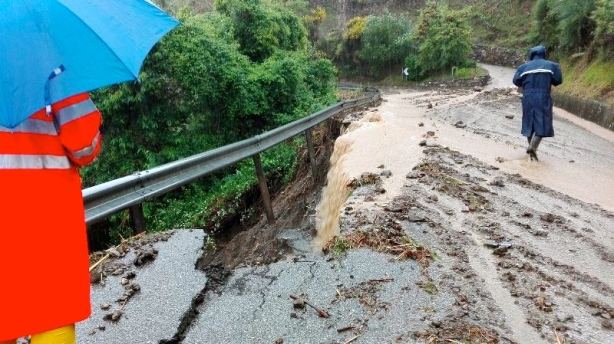 landslides and torrential rains in Levanto and the Cinque Terre