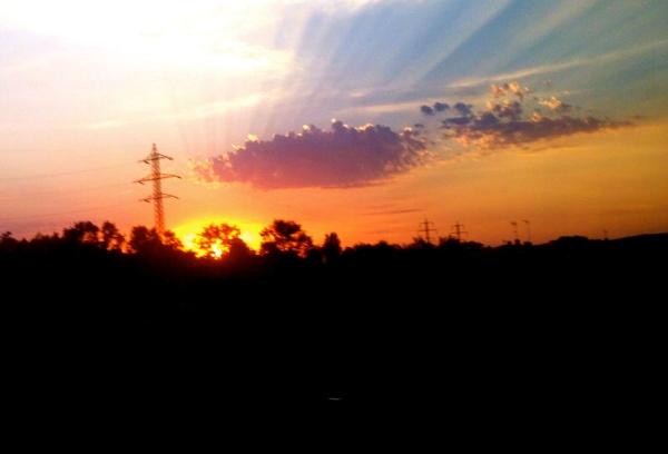 Un tramonto in Spagna G Rossi