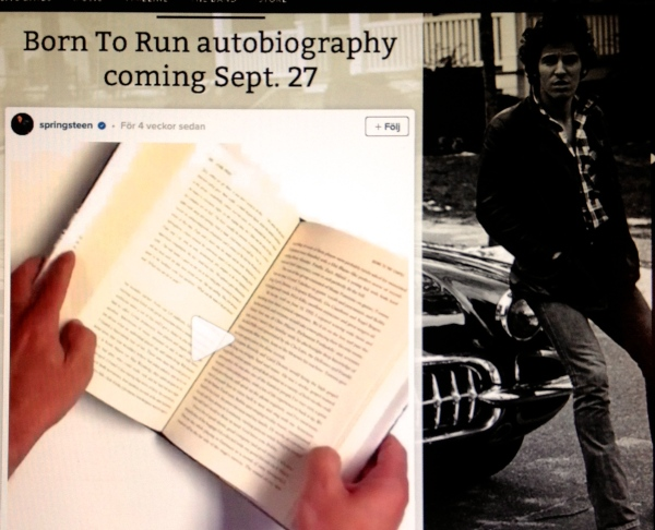 New book Bruce Springsteen